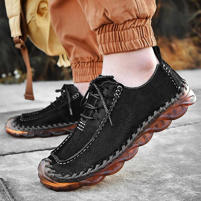 Men's Fall / Winter Business / Classic / Casual Daily Outdoor Oxfords Nappa Leather Breathable Handmade Non-slipping Black / Brown