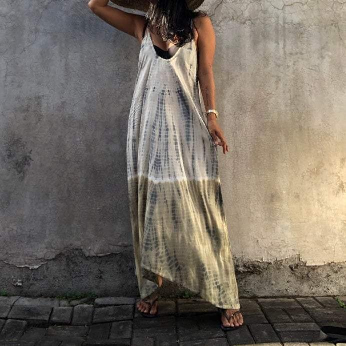 Special Spaghetti Straps Sleeveless Beach Maxi Dress