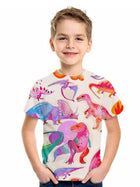 Kids Boys' Basic Fantastic Beasts Animal Print Short Sleeve Tee Blushing Pink