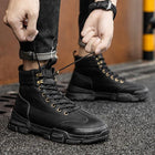 Men's Fall Casual Daily Boots Walking Shoes PU Breathable Non-slipping Wear Proof Black / Khaki / Gray