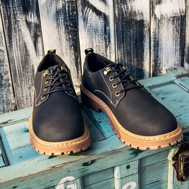 Men's Summer / Fall Daily Oxfords Leather Black / Khaki / Brown