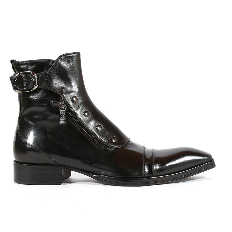 Men's Gentlemen Button Zipper Ankle Boots