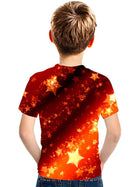 Kids Boys' Active Street chic Color Block 3D Print Short Sleeve Tee Rainbow