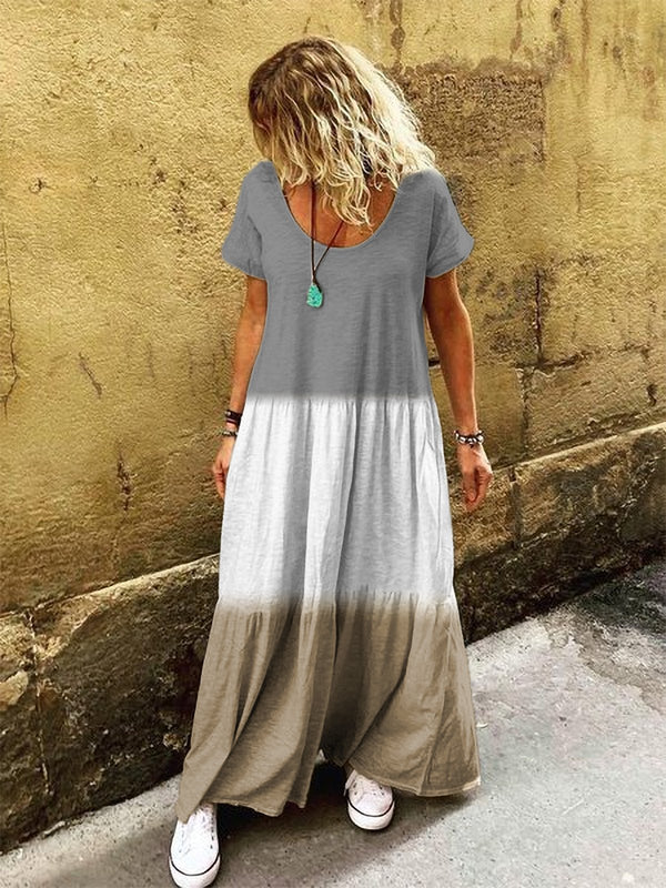 Casual Short Sleeve V Neck Casualdress