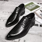 Men's Fall Casual Daily Oxfords PU Non-slipping Black / Brown