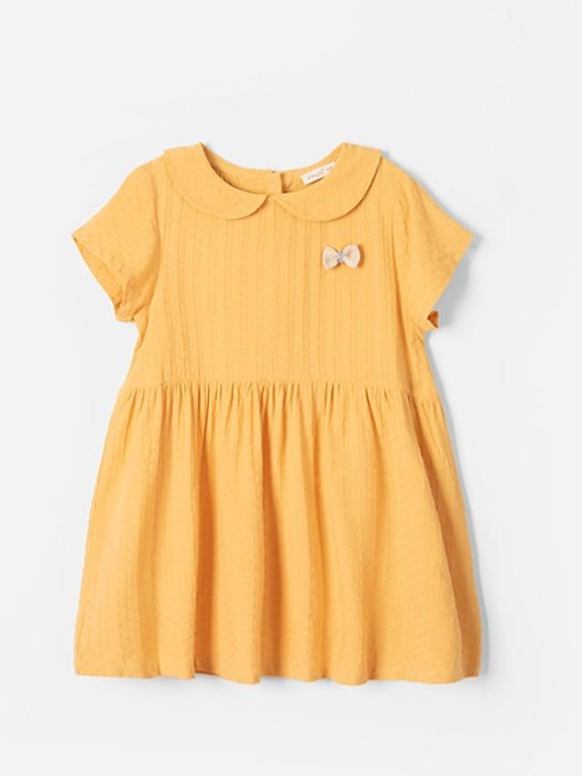 Kids Girls' Solid Colored Dress Yellow