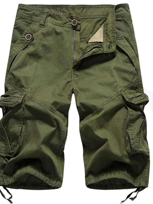 Men's Basic Tactical Cargo Pants - Solid Colored Army Green Khaki Light gray M / L / XL