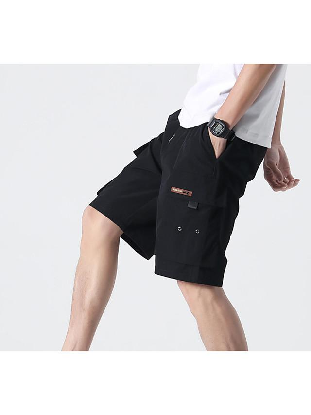Men's Shorts Tactical Cargo Pants - Solid Colored Drawstring Breathable Black Blue Gray XS / US32 / UK32 / EU40 / S / US34 / UK34 / EU42 / M / US36 / UK36 / EU44