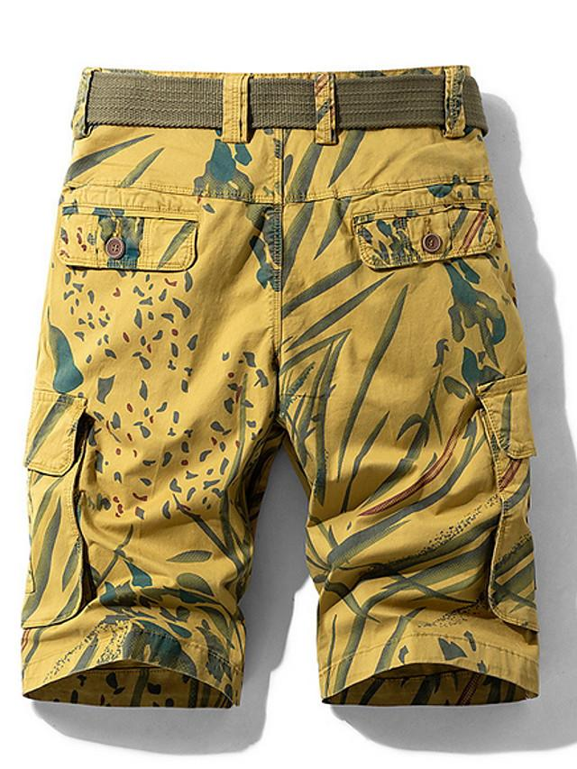 Men's Basic Daily Loose Shorts Tactical Cargo Pants - Camouflage Summer Blue Red Yellow US32 / UK32 / EU40 / US36 / UK36 / EU44 / US38 / UK38 / EU46
