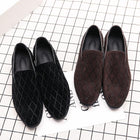 Men's Summer Classic / Casual Daily Office & Career Loafers & Slip-Ons Suede Breathable Non-slipping Height-increasing Black / Brown