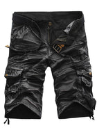 Men's Street chic Military Slim Cotton Shorts Tactical Cargo Pants - Striped Camouflage Black Red Army Green US32 / UK32 / EU40 / US34 / UK34 / EU42 / US36 / UK36 / EU44