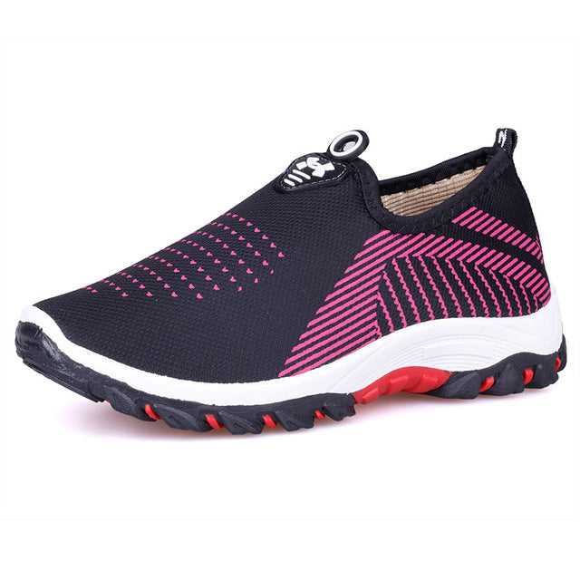 Women fashion light tenis breathable lightweight mesh sneakers casual shoes