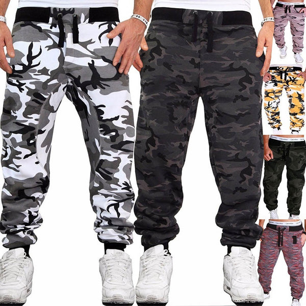 Men Hip Hop Causal Loose Camouflage Trousers Sweatpants Large Size Joggers Pants