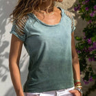 Sexy Hollow Out Short Sleeve Beach Top Women O-Neck Slim Fit 5XL
