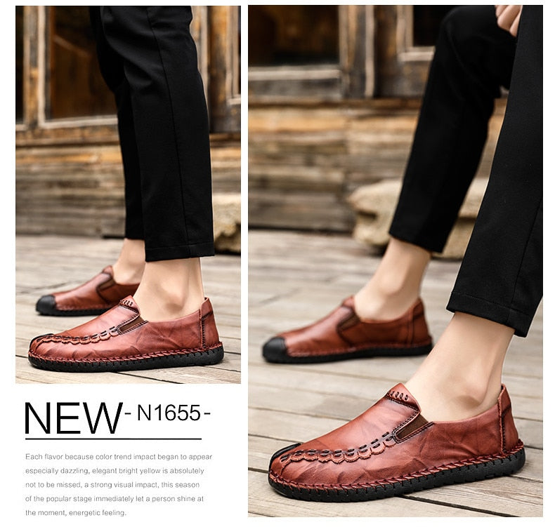 Comfortable Casual Shoes Loafers Men Shoes Quality Handmade Leather Men's shoes Flats Moccasins Shoes