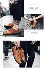 Comfortable Casual Shoes Loafers Men Shoes Quality Split Leather Flats Moccasins Shoes