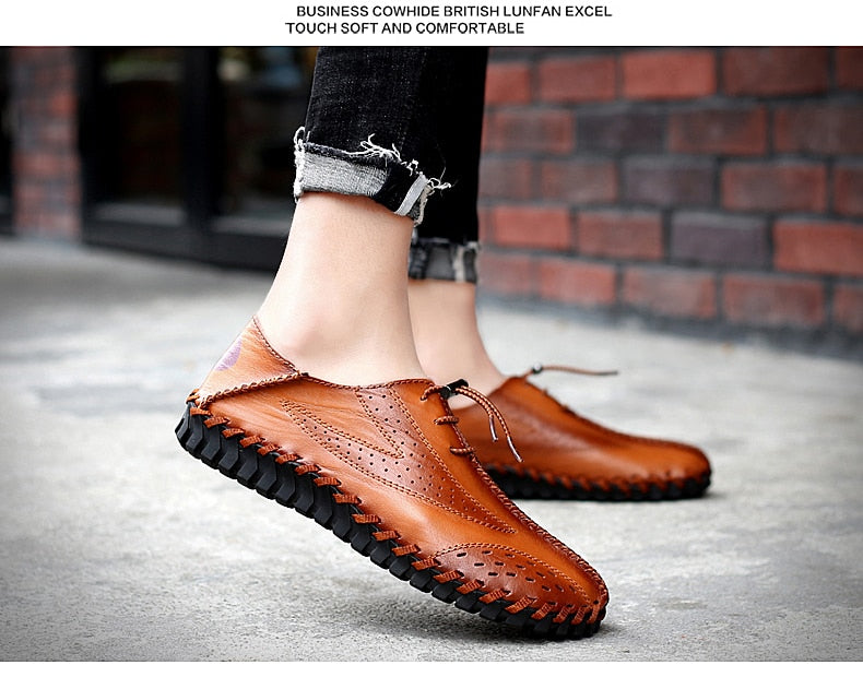 Casual Shoes Moccasins Flats Men's Shoes Breathable Driving Shoes Men Leather Boat Shoes Loafers