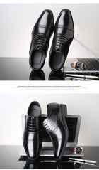 Men Formal Dress Shoes Luxury Leather Handmade Oxford Shoes