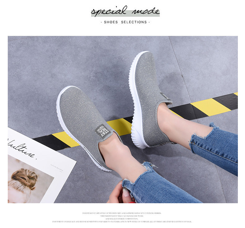 Women Sneakers Fashion Sock Shoes Female Vulcanized Shoes Casual Slip On Flats
