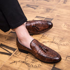 Men Pointed Formal Business Luxury Casual Leather Wedding Party Loafers Shoes