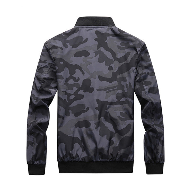Men Camouflage Coats Camo Outwear Plus Size Bomber Jacket