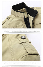 Men Casual Army Military Coats Outerwear Overcoat Jacket