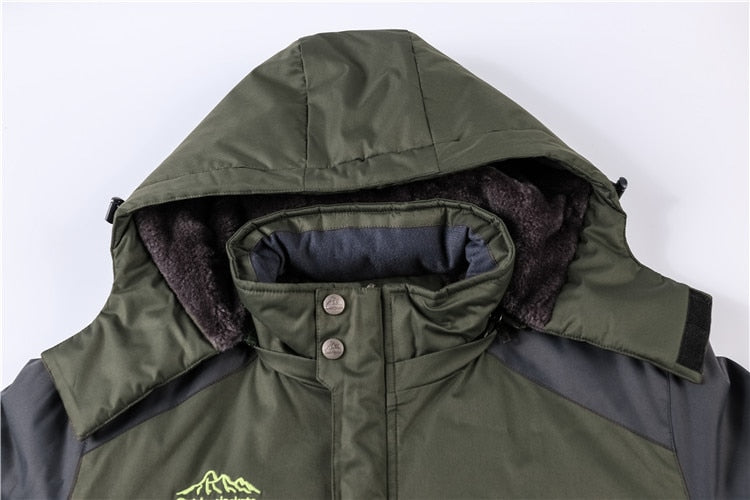 Men's Thick Fleece Warm Coat Hooded Coats Plus Size Jacket