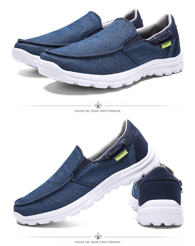 Men Canvas Casual Breathable Footwear Plus size Flat Shoes