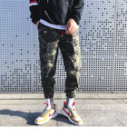 Men Casual Pants Joggers Fleece Military Camouflage Hip Hop High Street Pants Streetwear Pantalon Homme