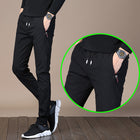 Men's Elastic Waist Pants Fast-drying Stretch fabric Drawstring Casual Pants