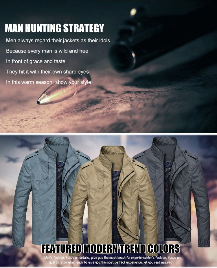Men Jacket Casual High Quality Plus Size Male Jackets