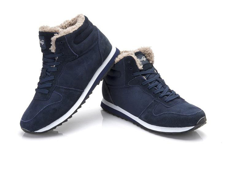 Winter Boots Men Leather Winter Shoes Men Plus Size Sneakers For Winter Ankle Boots