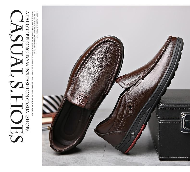 Men Dress Shoes Genuine Leather Anti-slip Fashion Design Oxford Shoes