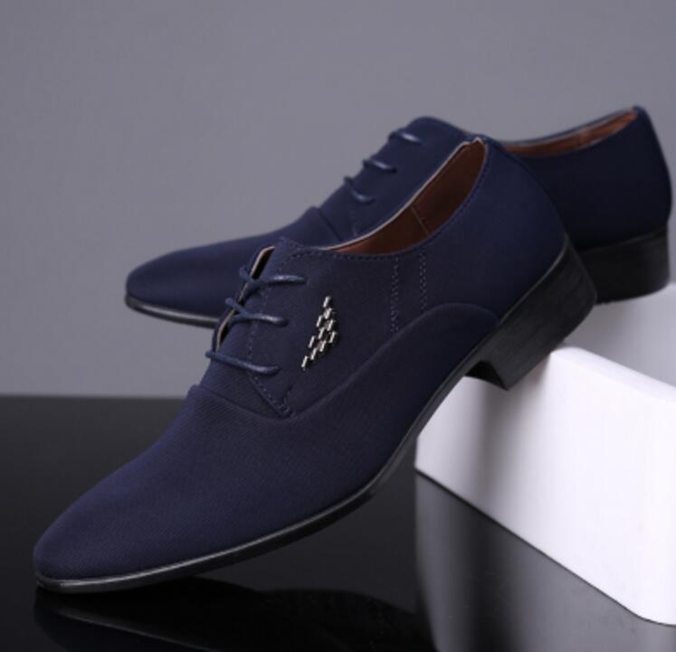Men Formal Dress Shoes Hot Fashion Leather Breathable Oxford Shoes
