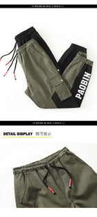 Men casual pants Hip hop streetwear joggers fashion sweatpants man Pockets cargo pants