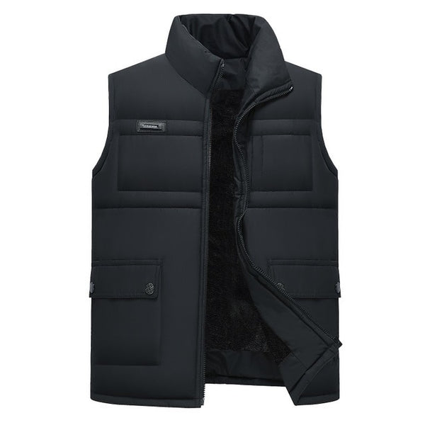 Mens Down Vests Winter Jackets Waistcoat Men Sleeveless Solid Zipper Coat Overcoat keep Warm Plus Size 4xl