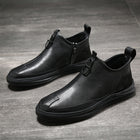 Men Genuine Leather Chelsea Boots Fashion Male Shoes Cow Leather Man Ankle Boots