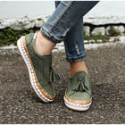 Women Slip On Hollow Out Flats Ladies Breathable Loafers Casual Platform Vulcanized Sewing Sneakers Shoes