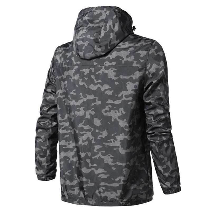 Men Camouflage Outwear Coat Casual Cardigan Jacket