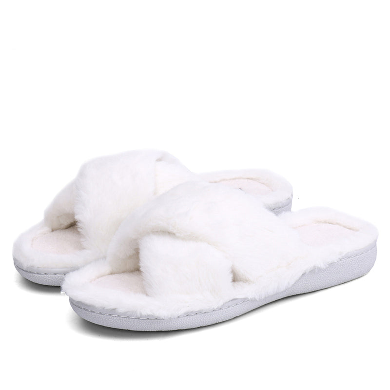 Winter women indoor slippers home shoes fur slippers warm shoes woman house slippers ladies slip on flats