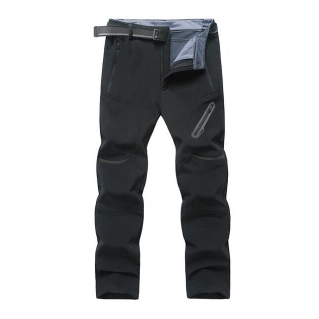 Men plus size casual pants thick waterproof trousers sandtroopers big size soft shell pants