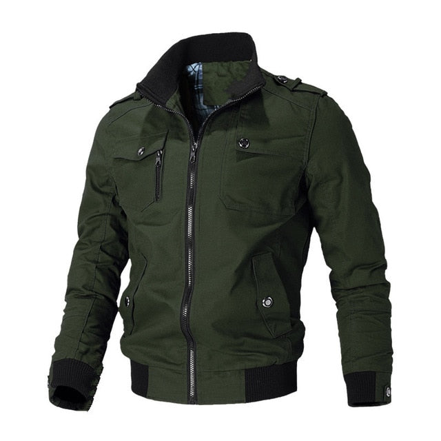 Casual Jacket Men Spring Autumn Army Military Jackets Mens Coats Windbreaker Outerwear