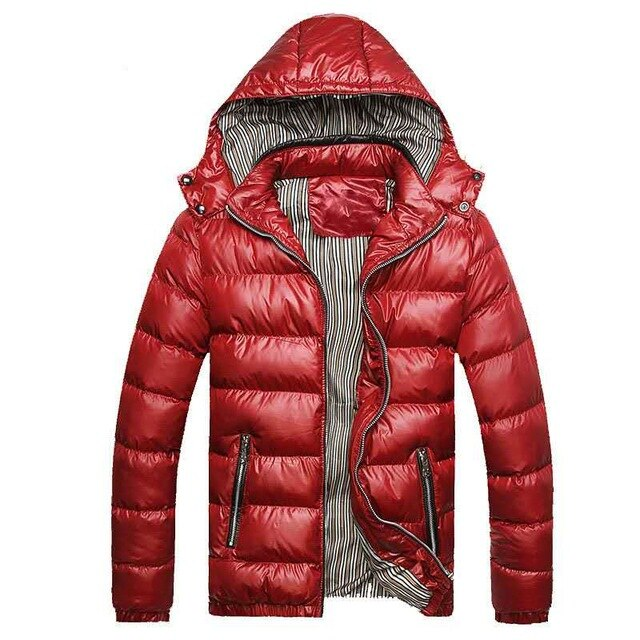 men  Casual Mens Jackets And Coats Outwear cotton padded Parka Men windbreaker hooded Clothes