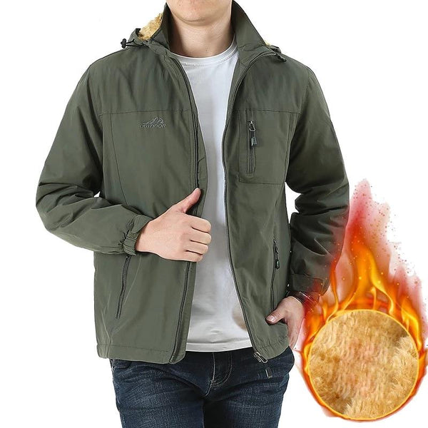 Mens Jacket Male Thick Fleece Warm Army Tactical Windbreaker Jacket Mens Outwear Breathable Hooded Coats Clothing