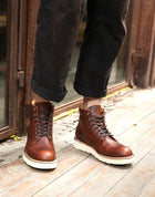 Motorcycle Men's Boots Red Leather Casual Tide Brand Retro Handmade Leather Boots