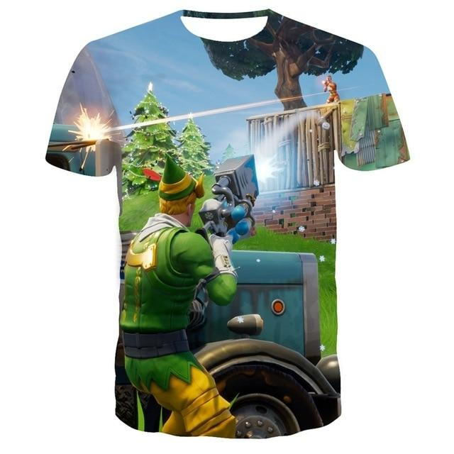 Children/adult Battle Royale Gaming 3d Printed T-shirt Kids Summer Short T-shirt Boys Girls Teenager Fortnite T-shirts