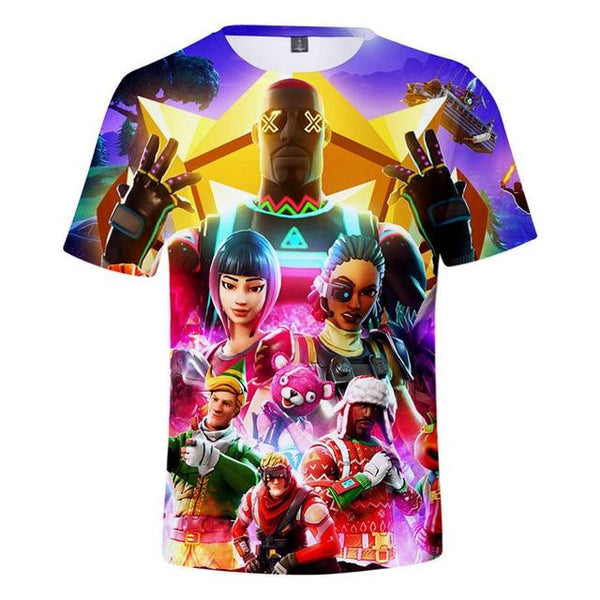 Children/adult 3d T-shirt Battle Royale Gaming Kids Cartoon Print Short Sleeve T-shirt Men/women Universal Casual Short Tops Fortnite T-shirts