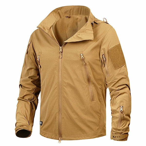 Men's Jacket Coat Military Clothing Tactical Outwear Army Breathable Nylon Light Windbreaker