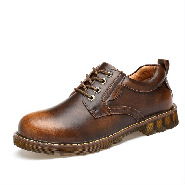 Men Leather Casual Shoes Work Safety Boots Designer Men Flats Men Work & Safety Shoes