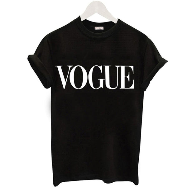 Corachic.com - Women Fashion VOGUE Printed T-shirt Woman Tee Tops Casual T-shirts - Tops
